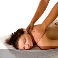 woman having an aromatherapy massage in Cardiff