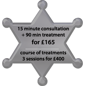 special offer on Hot Stone therapy in Cardiff - only £70 for 60 minutes hot stone treatment and a free 20 minute consultation - a special offer on a course of 3 hot stone treatments for only £175